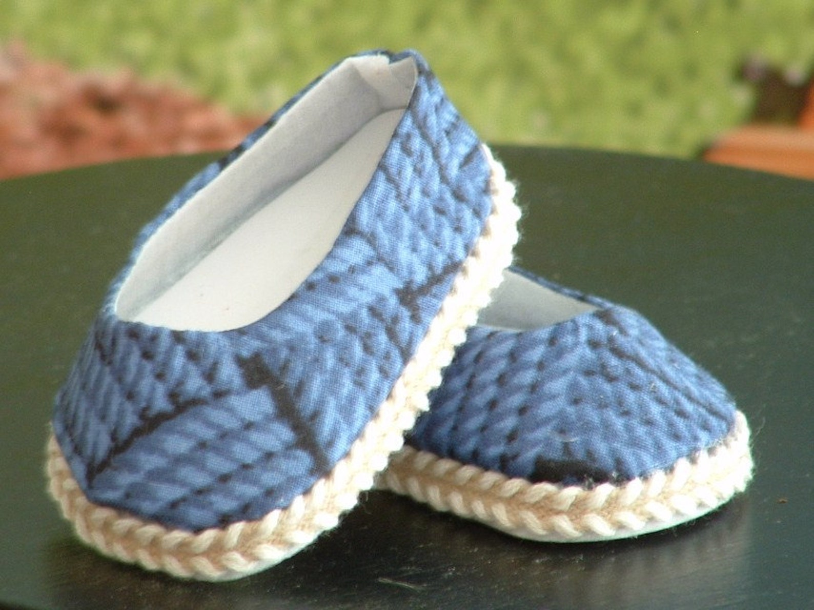 blue rope ballet flats for american girl dolls