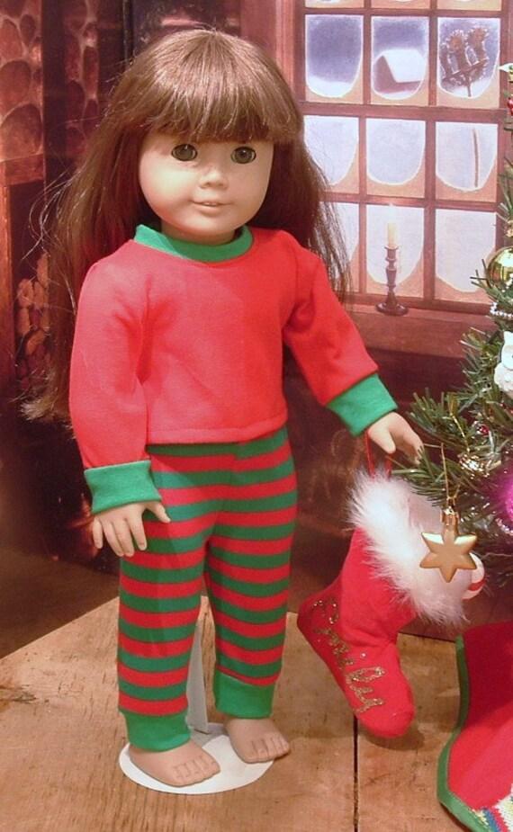 b55c9995a9 Christmas Pajamas for American Girl Doll