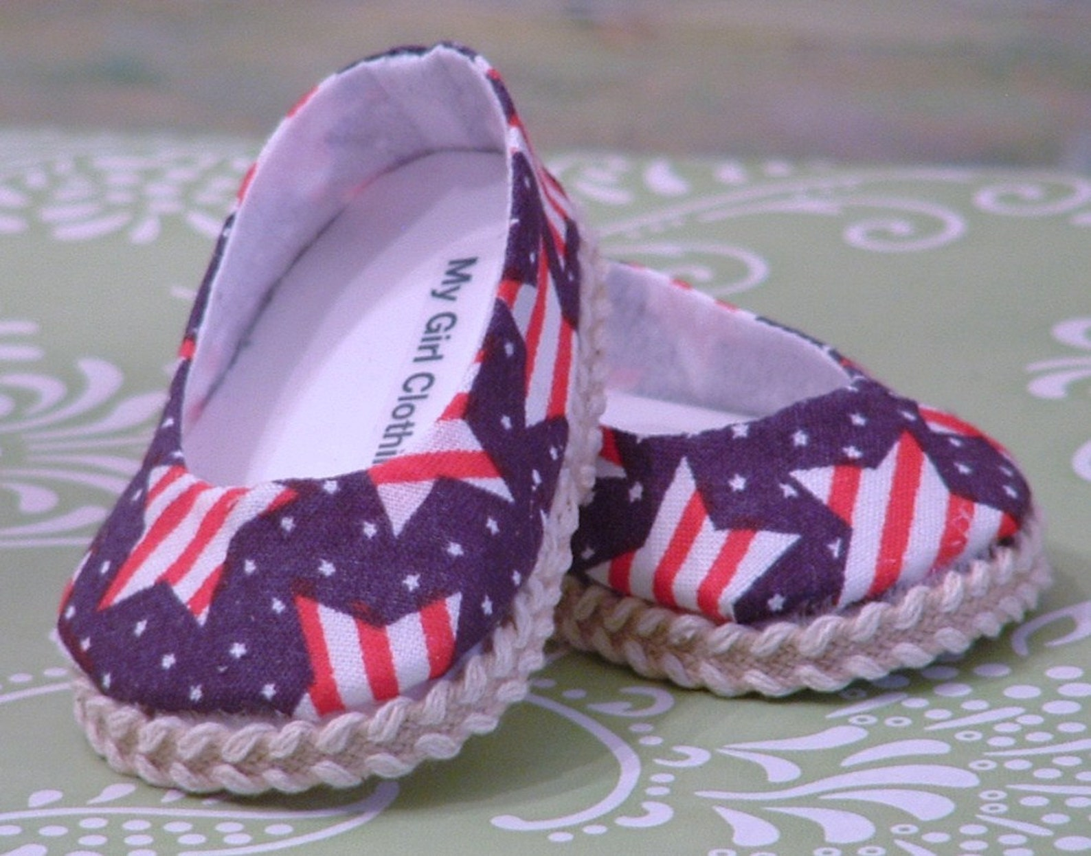 stars and stripes ballet flats for american girl