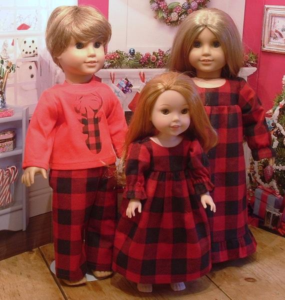 5165cb16ac Family Country Christmas Pajamas for American Girl