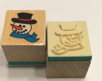 Rubber stamp snowmen having sex