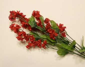 red silk baby/'s breath flower stem DD