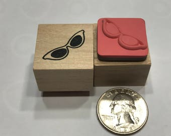 small Eye Sun Glasses rubber stamp, 25 mm (BB4/2)
