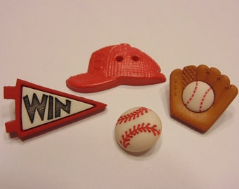 red hat baseball button set, 15-33 (12)