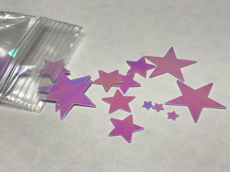 3-17 mm white multi shine star confetti mix P 38