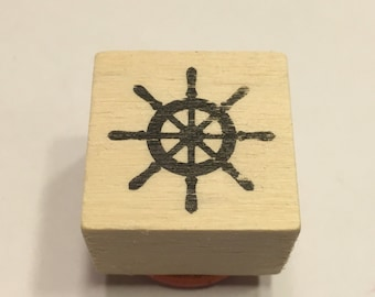 small wheel / helm rubber stamp, 22 mm (BB4/5)