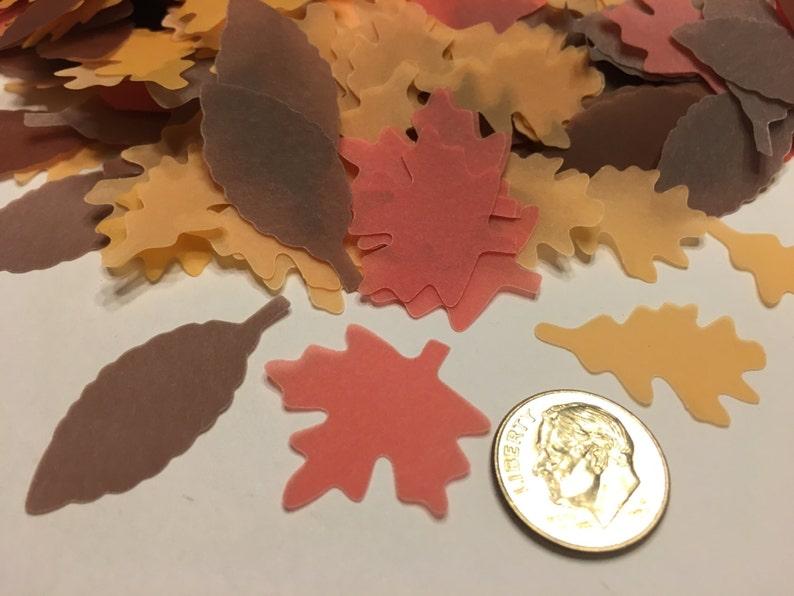 35 piece assorted fall leaf confetti 32 25-35 mm