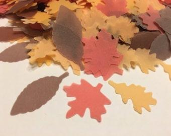 35 piece assorted fall leaf confetti, 25-35 mm (32)