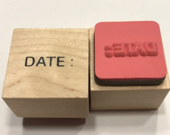 small Word Date rubber stamp, 17 mm (BB4/10)