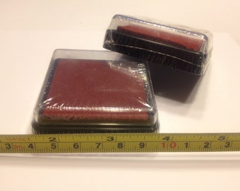 2 inch red ink pad, (BB4)