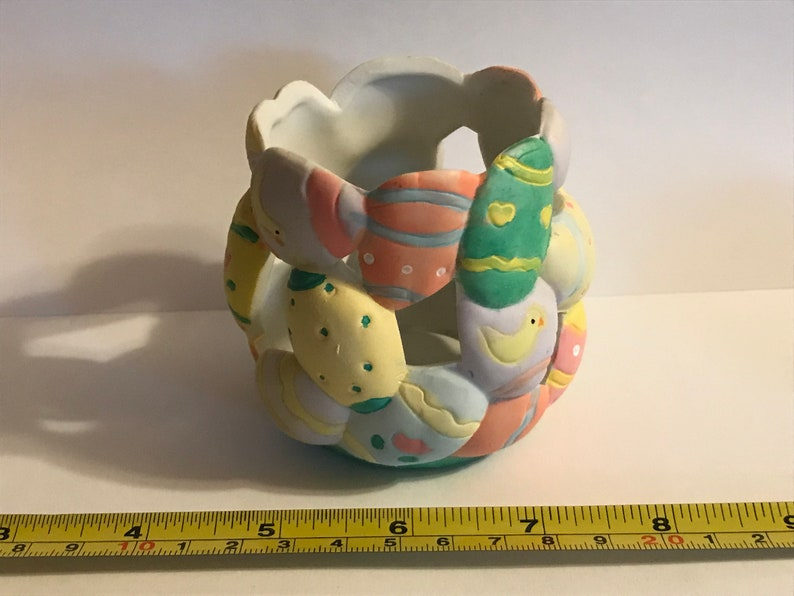 RCL Easter Decor Tealight candle holder 3 inch tall