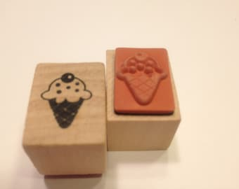 small ice cream cone stamp, 18 mm (BB4/7)