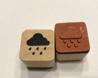 Rain Cloud rubber stamp, 20 mm (BB4/10)