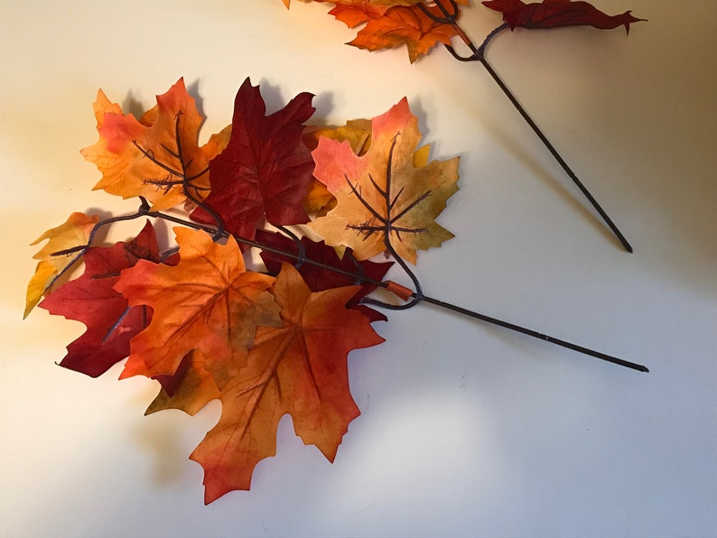 BR75 2 Fall Leaf picks about 10 inch tall