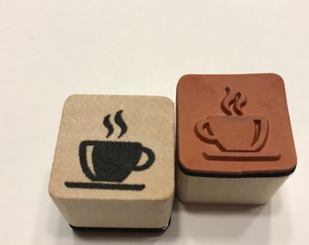 small cup of coffee rubber stamp, 20 mm (BB4/5)