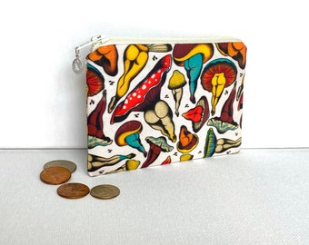 Money Pouch or Coin Purse - Mushroom Booties