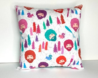 Happy Little Trees - Small Throw Pillow