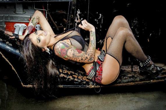 Ratrod hotrod rockabilly retro great tattoo pin up model 8 x etsy - Tattooed pin up models ...