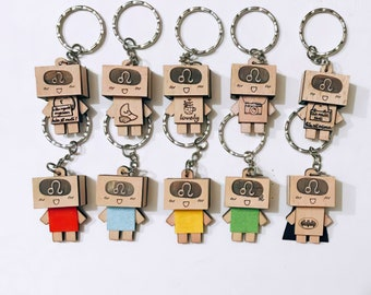 Danbo Keychain Shades - Handmade - Wood Material