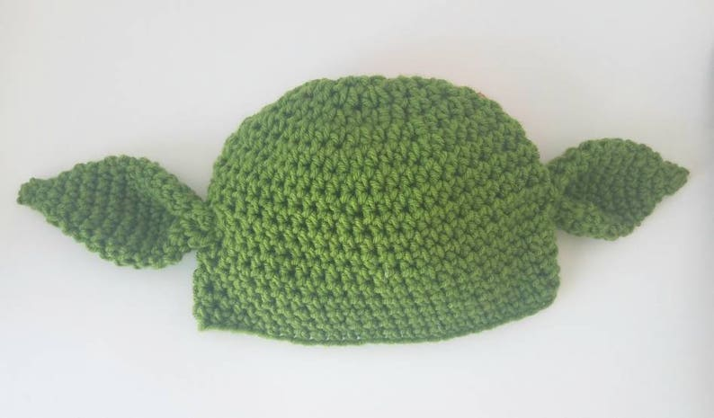 96aca1636b7ce Yoda Star Wars inspired Crochet Hat-FREE SHIPPING Yoda