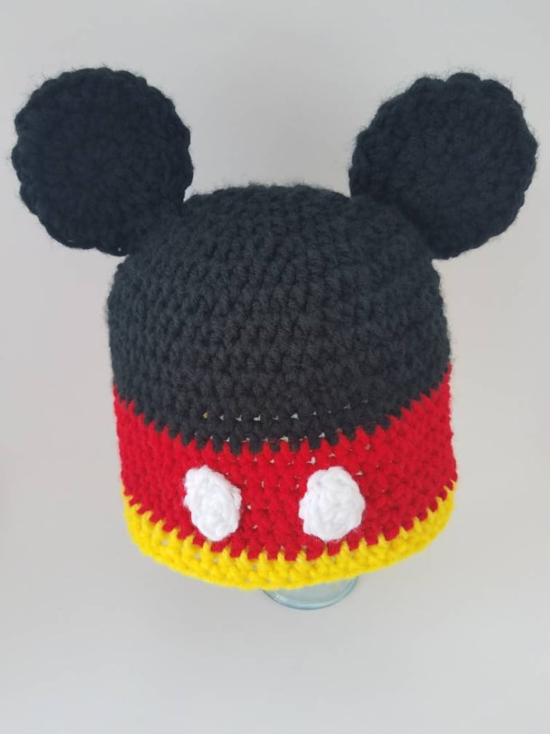 cf7d96c16a2 Mickey Mouse inspired Crochet Hat-halloween-disney