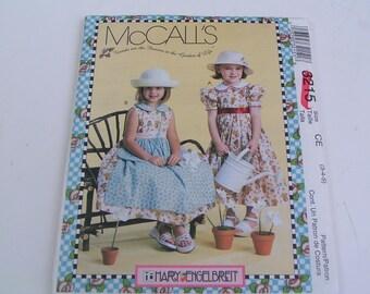 McCalls Pattern Mary Engelbreit 3215 Child Girl Dresses Purse