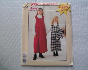 McCalls Easy stitch n save Pattern P429 Child Jumper and Jumper for 18 inches