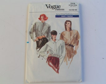 Vintage Vogue Pattern 7016 Easy Miss Blouse