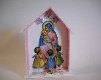 Nativité Boutons-Noël Boutons-Marie /& Joseph-religieux Crafts-Jésus