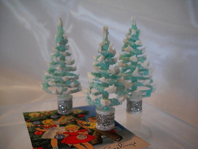 Marvelous Miniature Trees Christmas Tree Village Tree Putz Village Tree Glitter Tree Village Collectables Village Accessories Fairy Garden Blue Tree Download Free Architecture Designs Scobabritishbridgeorg