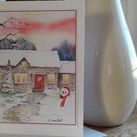 Fine Art Greeting Card for All Occasion, Snowy Cottage, Christmas Card, Season Greetings, Festive Season, Kids Christmas, Boxing Day, Xmas