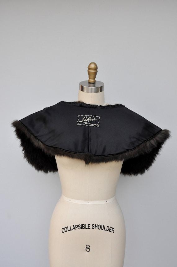 30s 40s Black Fox Fur Cape Capelet - Real Fur Sto… - image 2