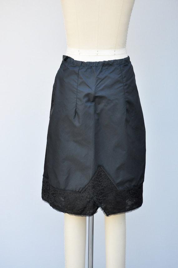 Under Skirt 50s Floral LACE Half Slip Black Slip Goth Pin Up XS S Floral Details Skirt Slip Sheer Slip Mid Century 50s 60s