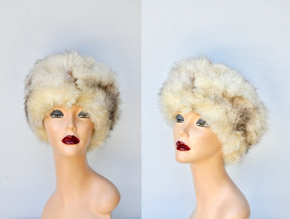 Vintage FOX Fur Hat - 50s 60s Mid Century Fox Fur