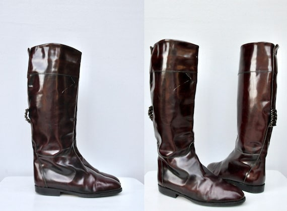 Vintage Italian Riding Boots - Equestrian Boots -