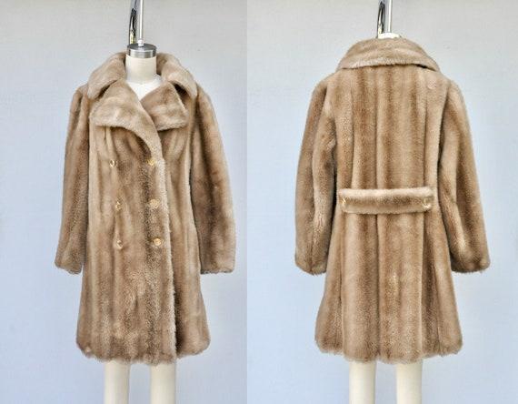 60s Vintage Faux Fur Coat Jacket - VEGAN Fur Coat