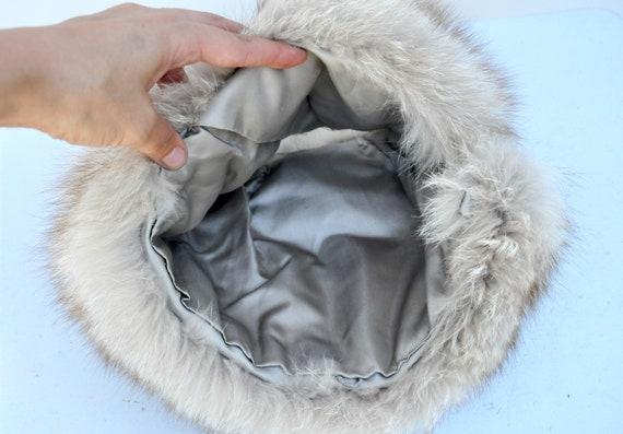Vintage FOX Fur Hat - 50s 60s Mid Century Fox Fur… - image 10