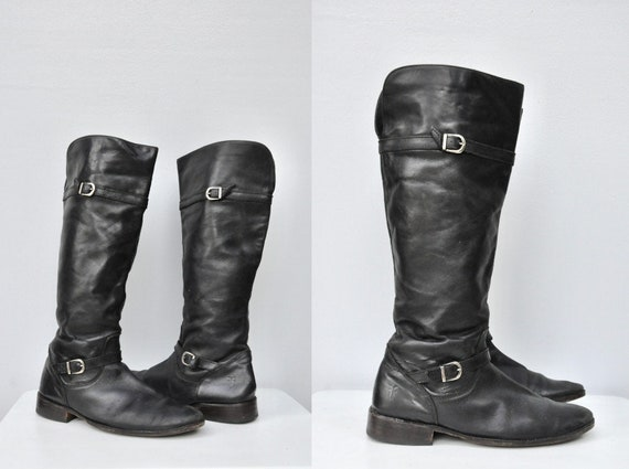 Vintage FRYE Leather Tall Boots - Equestrian Boots