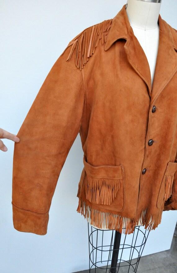 Vintage Fringed Leather Jacket - Leather Jacket -… - image 6