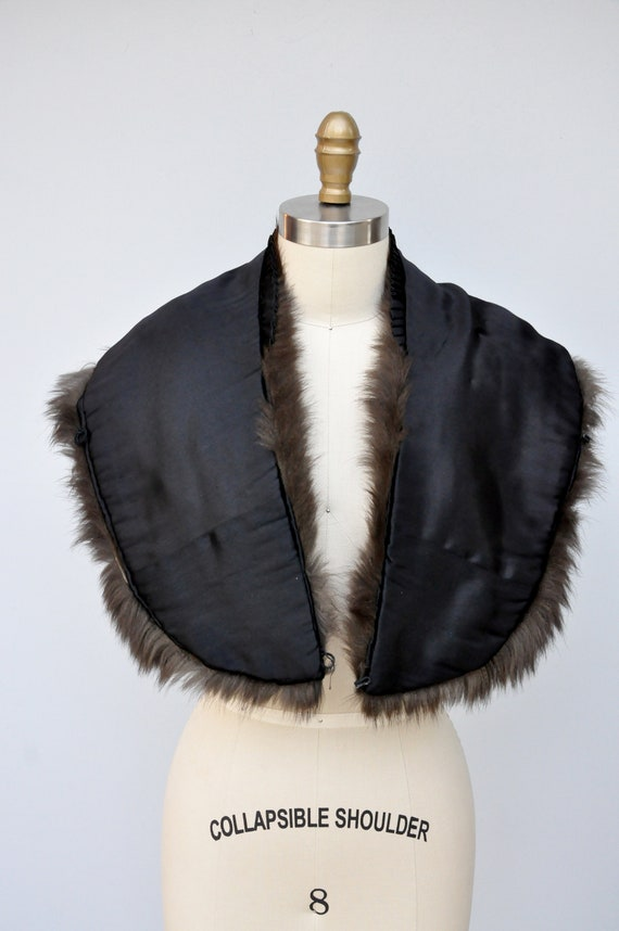 30s 40s Black Fox Fur Cape Capelet - Real Fur Sto… - image 8