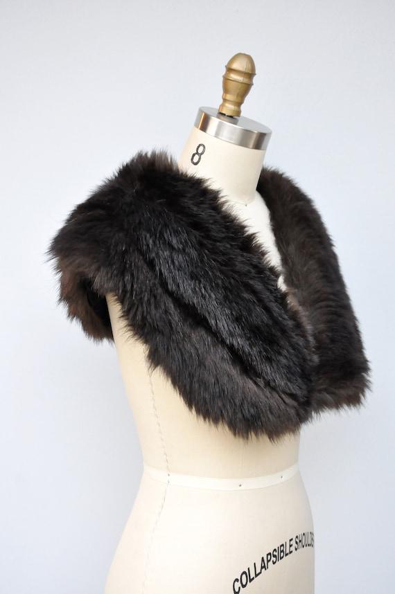 30s 40s Black Fox Fur Cape Capelet - Real Fur Sto… - image 10