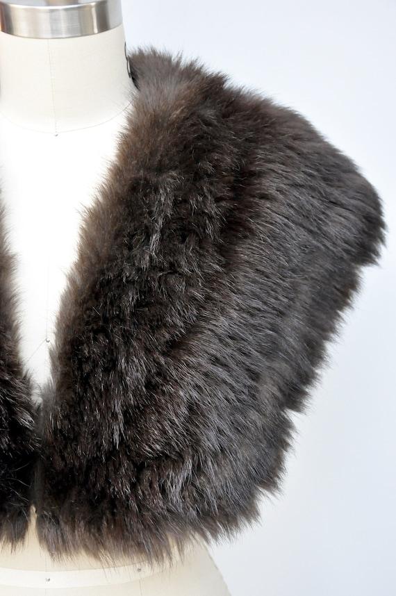 30s 40s Black Fox Fur Cape Capelet - Real Fur Sto… - image 7