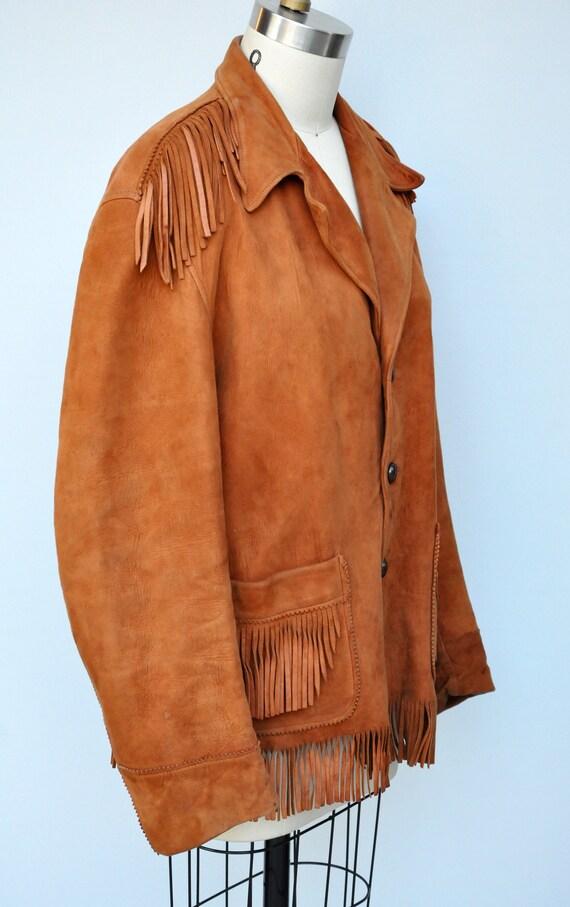 Vintage Fringed Leather Jacket - Leather Jacket -… - image 7