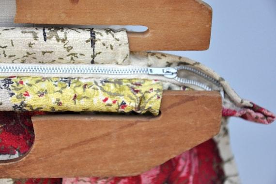 Vintage 40s Bag - Wood Handle Bag Purse - 40s Fab… - image 3