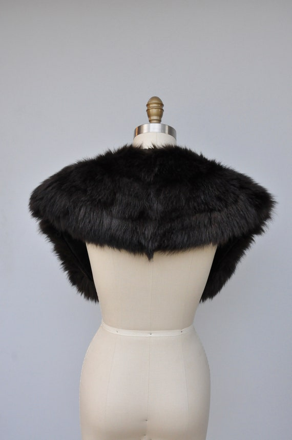 30s 40s Black Fox Fur Cape Capelet - Real Fur Sto… - image 4