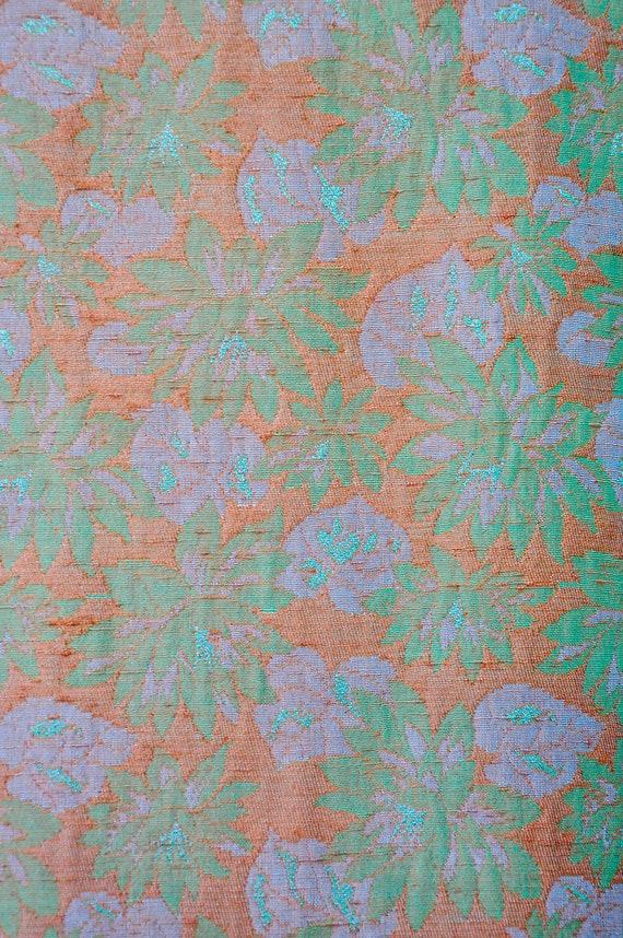 60s Mod Duster Coat - Flowers & Leaves Duster Coa… - image 4