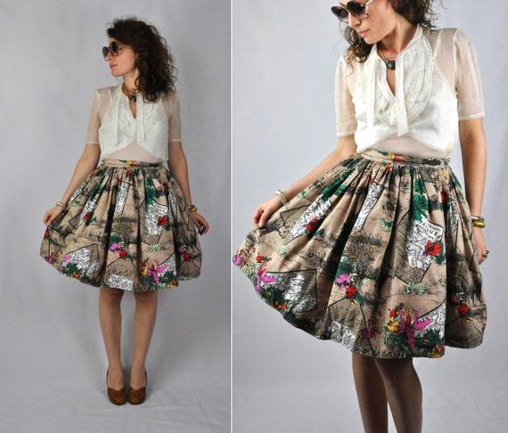 Full Skirt Pleated Skirt - African Print Full Skir