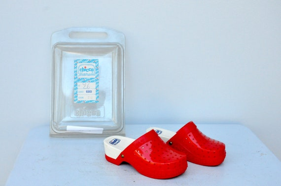 Vintage Girls Clogs - CHICCO Clogs - Italian Clogs