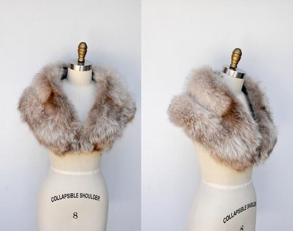 Vintage FOX Fur Stole Collar Shawl Shrug Cape - 50