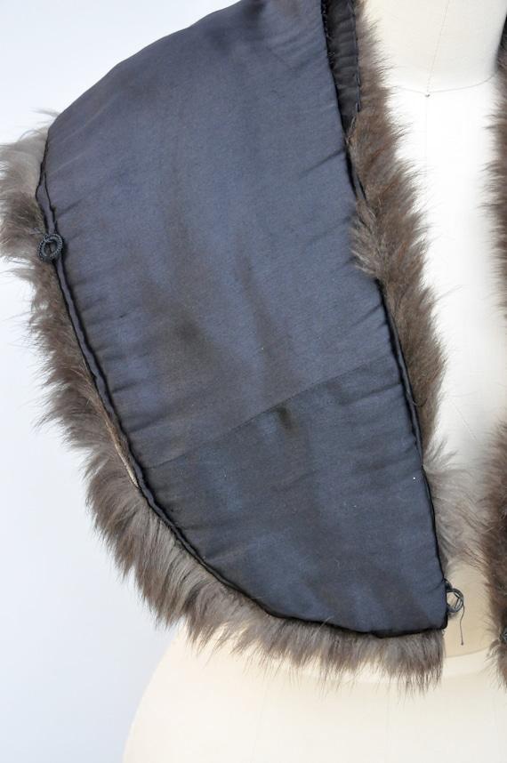 30s 40s Black Fox Fur Cape Capelet - Real Fur Sto… - image 9